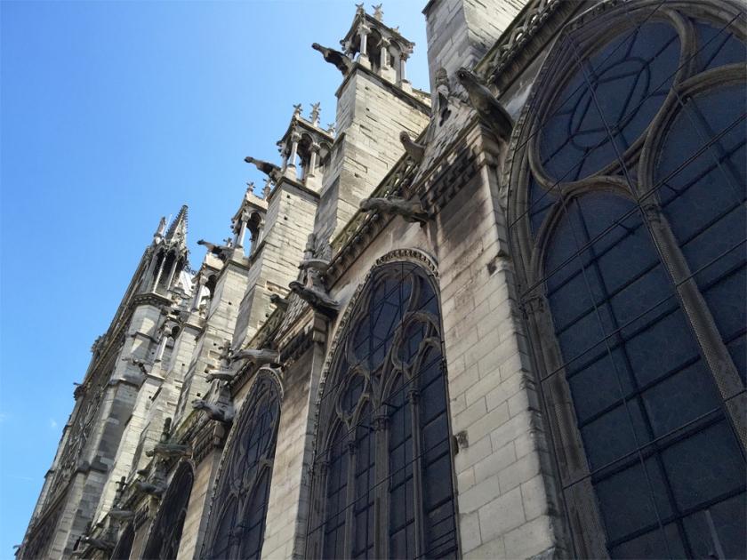 Look at the amazing gargoyles of Notre Dame de Paris.