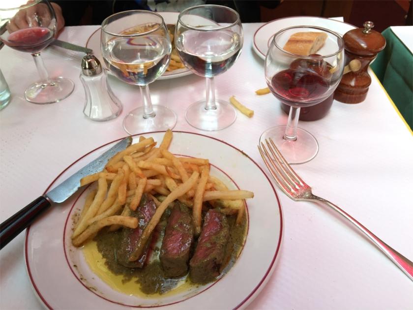 Lunch at Relais de la Entr'acte is always a treat!