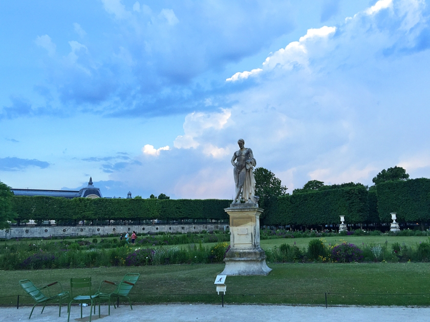 The light on the clouds in the Tuileries Gardens was unbelievably beautiful.